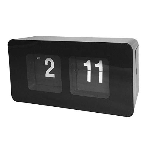 MERIGLARE Reloj Basculante Automático Clásico Relojes de Simples para Le - Negro, El 17,5x7x9,3 cm