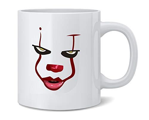 Poster Foundry Clown Face Horror Halloween Scary Ceramic Coffee Mug Tea Cup Fun Novelty Gift 12 oz