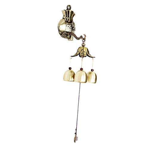 F Fityle Carillon de Vent Métallique Feng Shui Wind Chimes Apporte Bonne Fortune Carillon à Clochettes Suspendu Sonnette de Magasin - Modèle 04