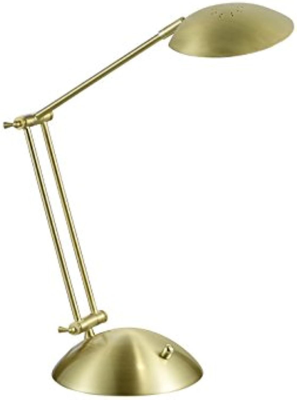 Trio Leuchten LED Tischleuchte, Metall, Integriert, 6 W, Messing matt, 50 x 20 x 43 cm