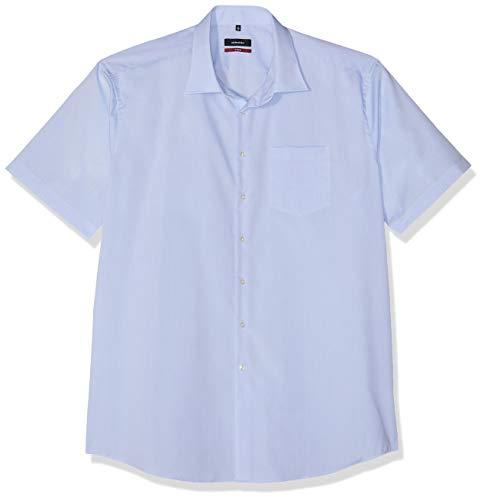 Seidensticker Herren Business und Freizeit Hemd Modern Fit, Blau (Hellblau 15), X-Large (Herstellergröße: 44)