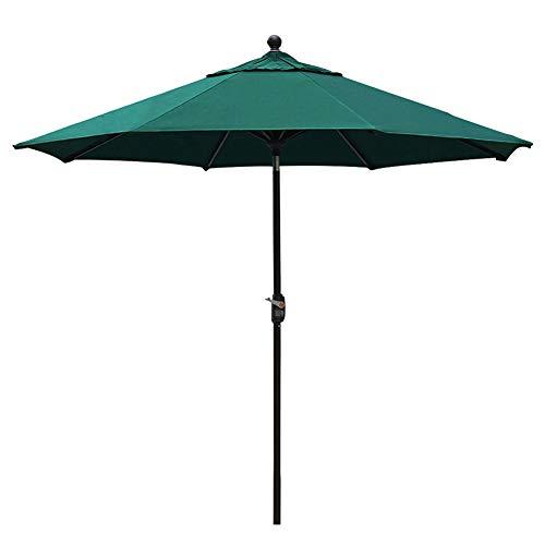 EliteShade Sunbrella 9Ft Market Umbrella Patio Outdoor Table Umbrella with Ventilation and 5 Years Non-Fading Top, Forest Green
