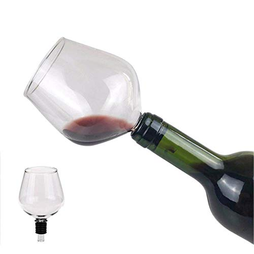 ZFLL Weinglas Kreative Rotwein Champagner Glas Tasse mit Silikondichtung Trinken Sie direkt aus der Flasche Crystal Glasses Cocktail Mug, Transparent