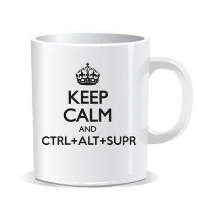 Imprimirlo Taza Keep Calm & Ctrl+ALT+Sup Mug