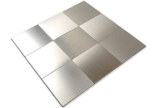 FEDZH folie mozaïek tegels plaat tegel tegels zelfklevende aluminium kunststof composiet muur Sticker metaal, licht gewicht eenvoudige installatie badkamer keuken tegel Stickers30*30cm 5 stks