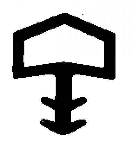 5m-Zimmertürdichtung Holzzargendichtung 10mm Falz - 4mm Nut - WTD 3006 Farbe Weiss