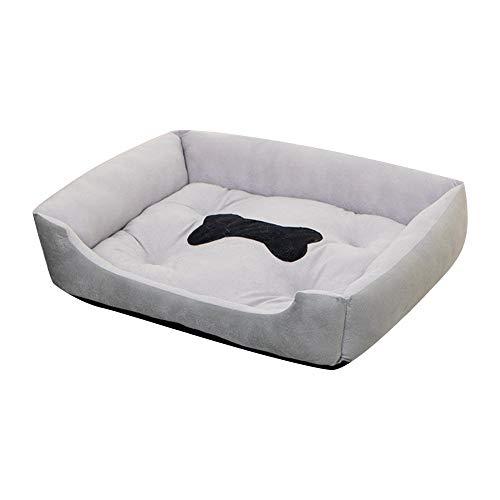 FWJSDPZ Cama para mascotas para perros, casa de gatos, camas para perros grandes, productos para cachorros, cama de perro, colchoneta tumbona, banco, sofá, suministros suaves (color: gris)