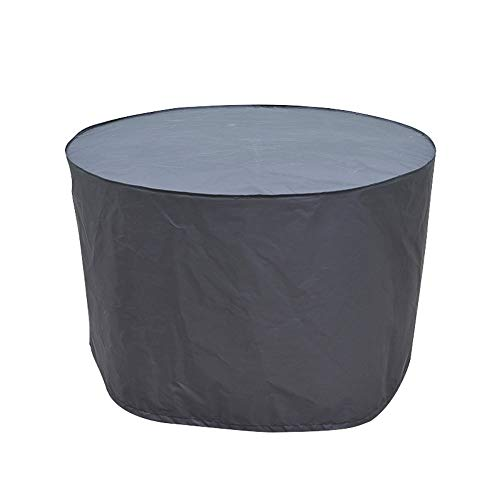 Cubierta Redonda for Muebles de jardín Mesas y sillas de terraza Impermeable a Prueba de Polvo Lona Impermeable Protector de Mesa Redonda Gris (Color : Gray, Size : 120x75cm)