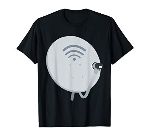 Antena de TV de traje divertido para plato de satélite Camiseta