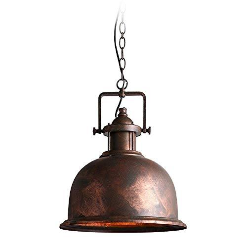 Decoración Hogareña Iluminación Colgante Araña de luces, cabeza de hierro forjado de una sola cabeza, lámpara colgante de linterna vintage industrial, cafetería creativa americana, restaurante bar, lu