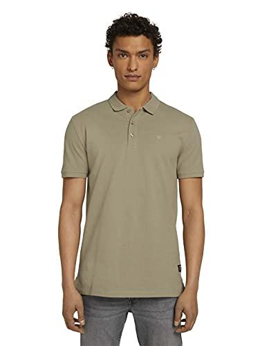 TOM TAILOR Denim 1024106 Camisa de Polo, 11863 Silver Olive, XXL para Hombre