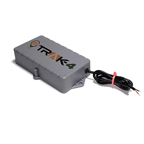 Trak-4 12v GPS Tracker with Wiring Harness for Tracking Equipment, Vehicles, and Assets