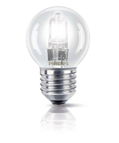Philips Ampoule EcoHalogène Sphérique Culot E27 28 Watts consommés Equivalence incandescence : 35W