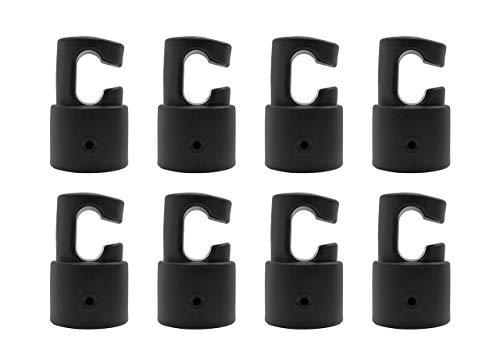 Upper Bounce 8pcsEnclosure G a Forma di Palo Tappi Terminali Trampolino Pali per Aste, Cappucci di Plastica, Nero, 3,8 cm / 1.5 inch Blu