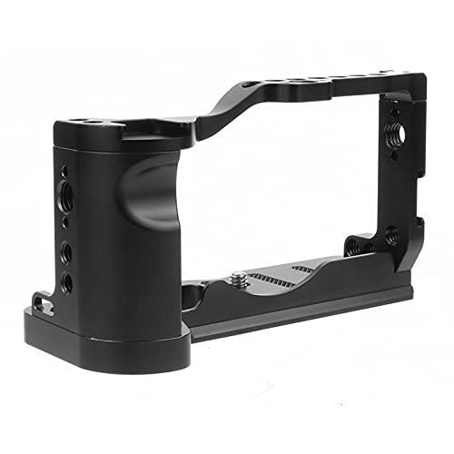 XT-XINTE M6 Mark2 - Soporte de jaula para cámara (con mango superior, compatible con Canon EOS M6 Mark II, estabilizador Vlog de película de vídeo