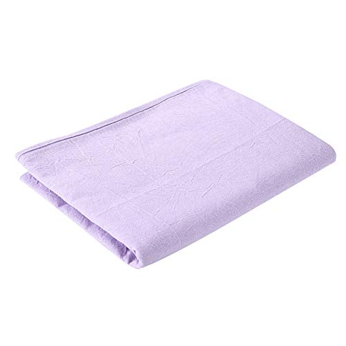 Wasbare massageplaten, hypoallergene massagebedtafel, zachte katoenen hoes, salon schoonheidssalon, spa, zacht katoenen beddengoed met gezicht ademend gat voor bed binnen 80x200 cm (Lilac)