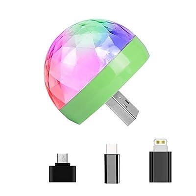 Mini USB Disco Light,Portable Home Party Light,DC 5V USB Led Disco Ball DJ Lights,Karaoke Party Led Decorations