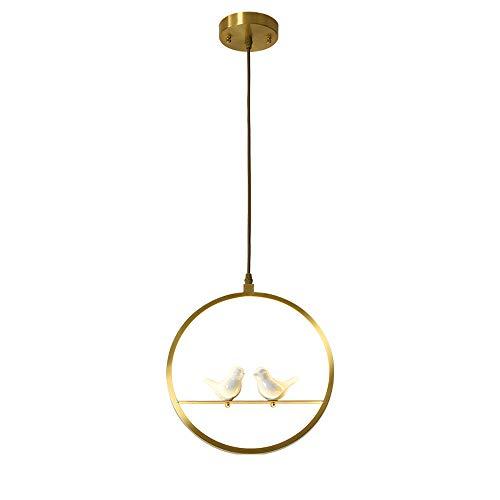 LED uccellino creativo lampadario ottone Squillare sala da pranzo lampadario oscuramento Altezza regolabile soggiorno Camera da letto Area di lavoro Caffetteria ostello Dentro metallo Luci decorative