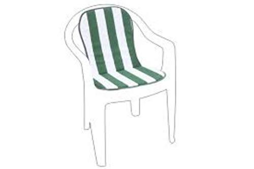 Fabotex Action Garden Monoblock - Cojín bajo Sentado, Blanco/Verde, 75x38x2 cm