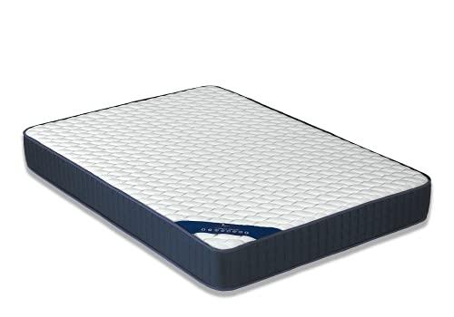 Dormio Visco Blue colchón Viscoelástico 105x190x19 Transpirable e hipoalérgenico, Blanco, 105x190