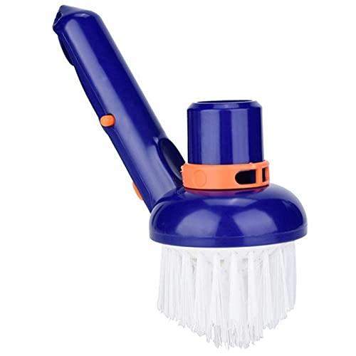 WuLL Pool Brush - Swimming Pool Cleaning Tool, Pool Step & Corner Vacuum Brush Best for Above Ground & Inground Swimming Pools, Spas & Hot Tubs, Fine Bristles
