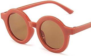 UKKD - Gafas de sol Gafas De Sol Redondas Retro Para Niños Muchacha Gafas De Sol Colorido Bebé Sol Visor Uv Gafas