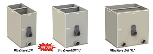 AquaForte UltraSieve Low L Schwerkraft Siebbogenfilter, mit 3 Eingängen