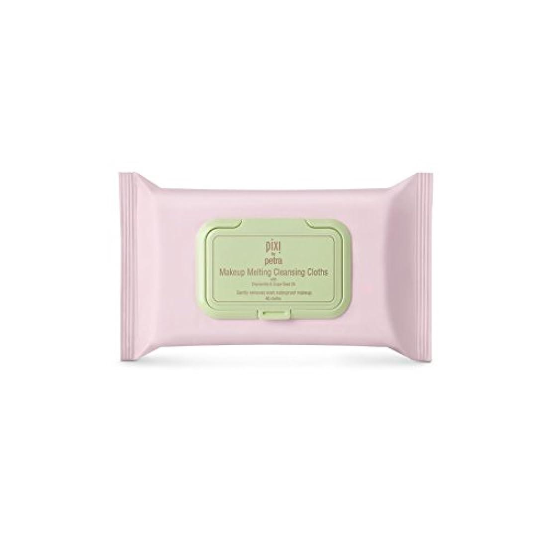 静める解凍する、雪解け、霜解けドックPixi Makeup Melting Cleansing Cloths (Pack of 6) - 化粧溶融クレンジングクロス x6 [並行輸入品]