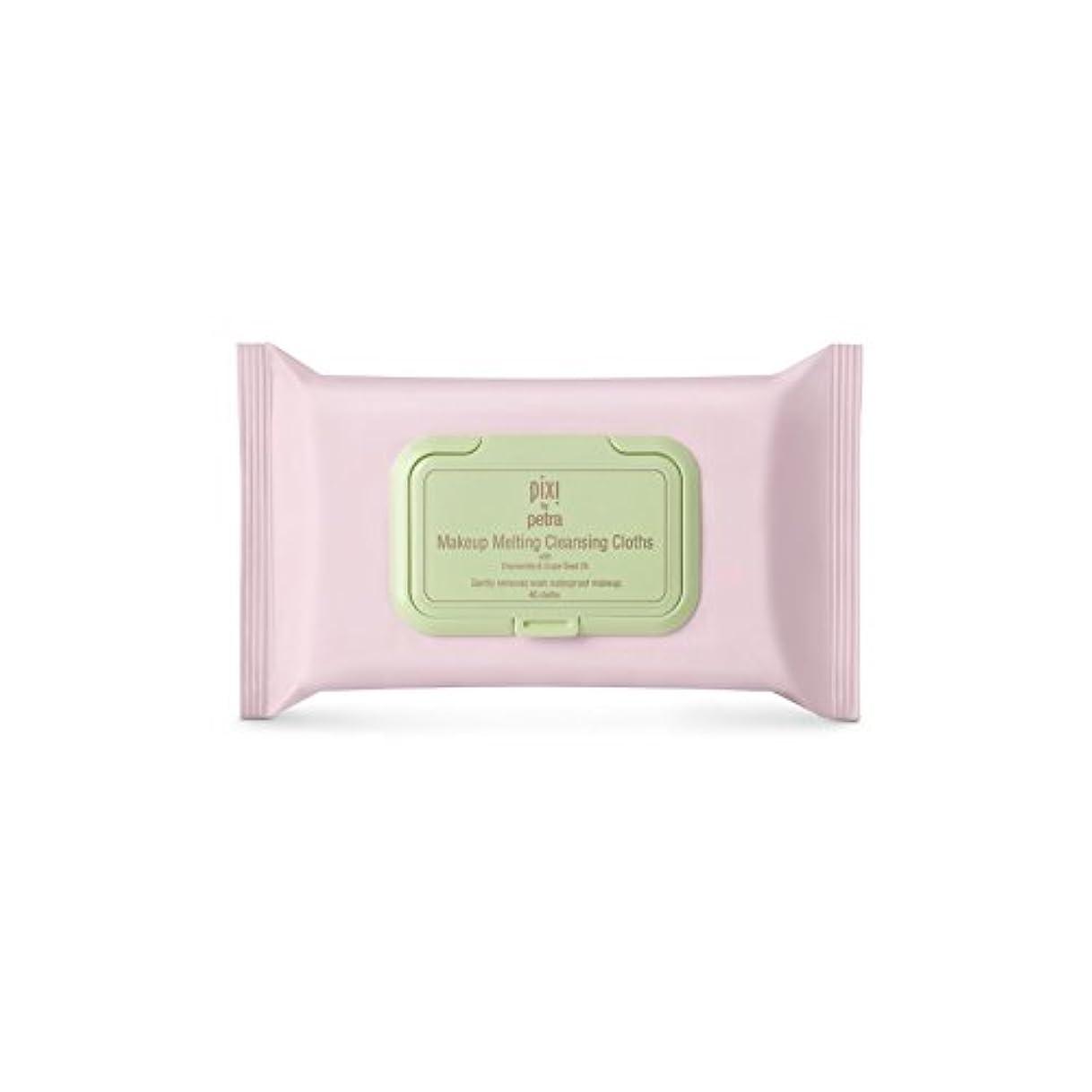 ヒップステーキ毒化粧溶融クレンジングクロス x2 - Pixi Makeup Melting Cleansing Cloths (Pack of 2) [並行輸入品]