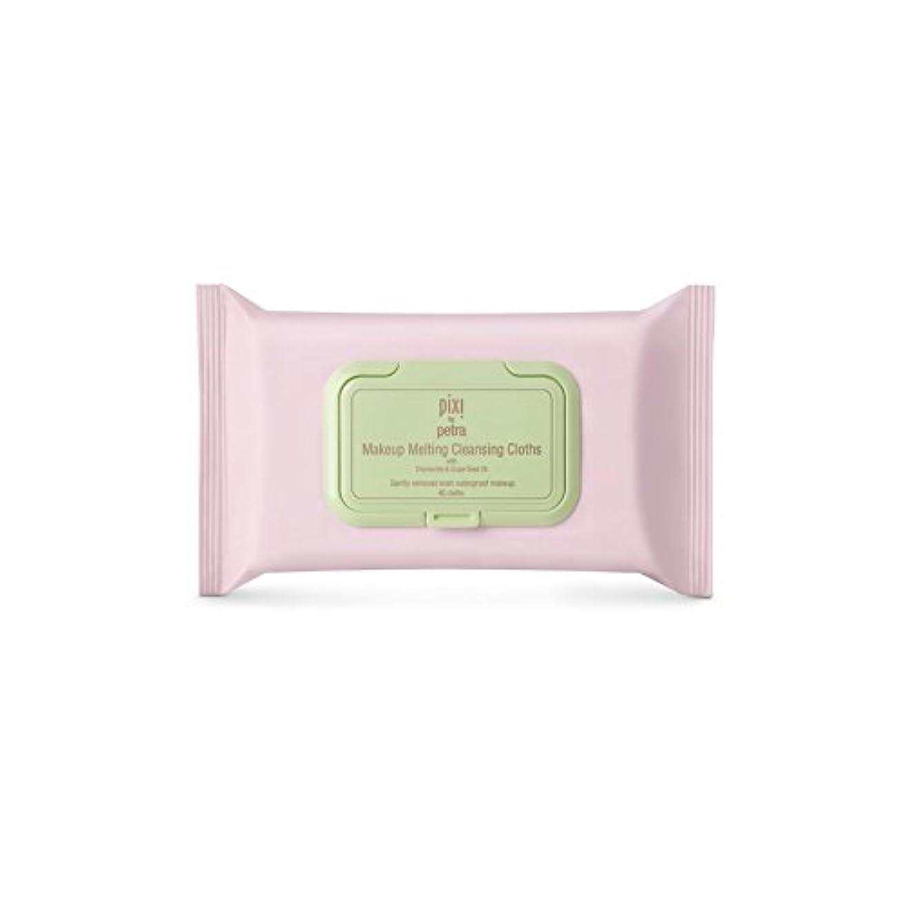 混乱した旋律的未使用化粧溶融クレンジングクロス x4 - Pixi Makeup Melting Cleansing Cloths (Pack of 4) [並行輸入品]