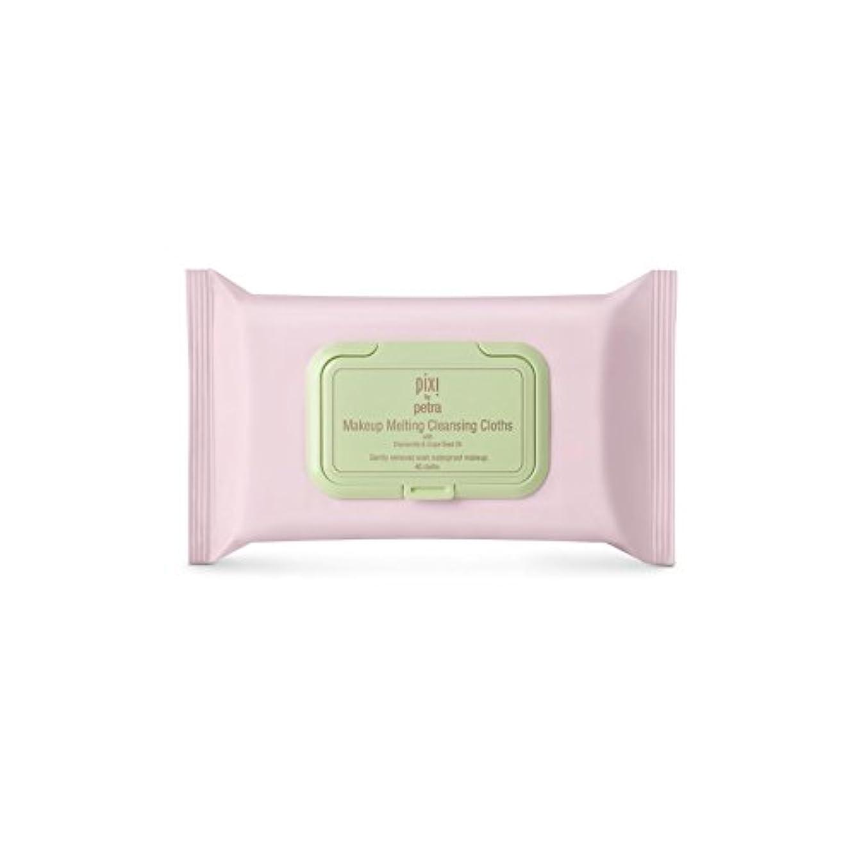 違反する追い払う非武装化化粧溶融クレンジングクロス x4 - Pixi Makeup Melting Cleansing Cloths (Pack of 4) [並行輸入品]