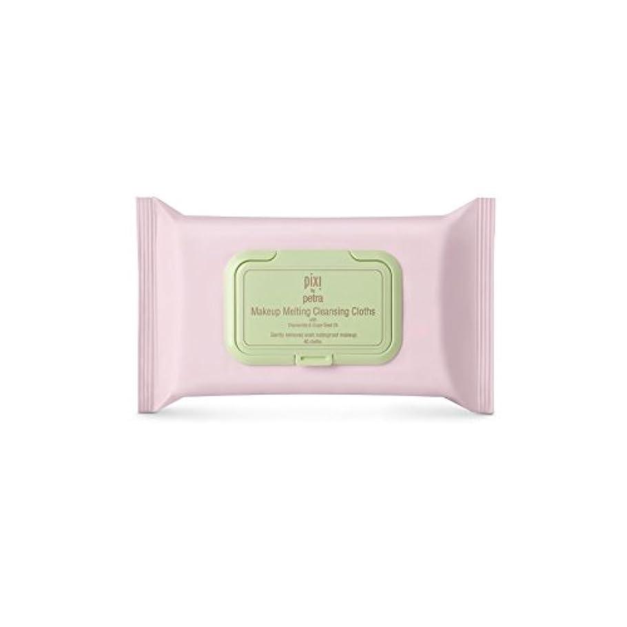 敬意を表するブラケット入学する化粧溶融クレンジングクロス x2 - Pixi Makeup Melting Cleansing Cloths (Pack of 2) [並行輸入品]