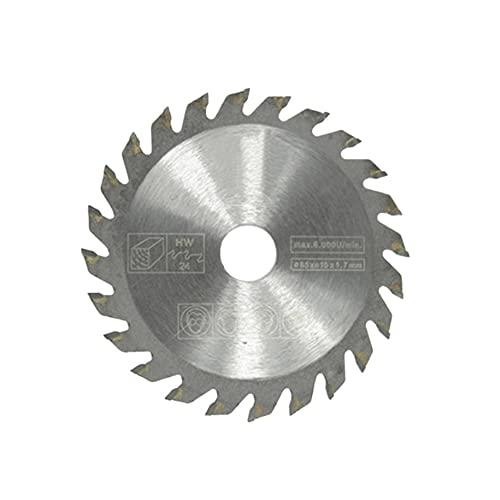 36/24 dientes TCT Circular Saw Blade Wheel Discos TCT aleación carpintería multifuncional hoja de sierra para madera metal corte 85x15mm