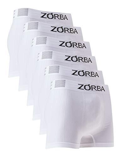 Kit 6 Cuecas Boxer Extreme Trendy, Zorba, Masculino, Branco, P