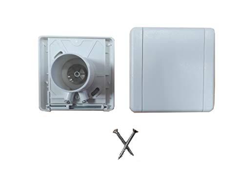 Prise aspiration centralisée couvercle carre 9x9cm blanc