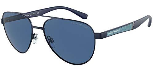 Emporio Armani Gafas de Sol EA 2105 Matte Blue/Blue 59/17/145 hombre