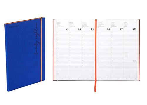Agenda settimanale 2020 Flexy-Diary, 17 X 24 Cm colore blue
