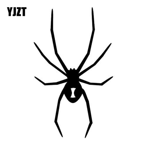 JYIP 8 3x13 7cm Spider Vinyl Sticker Funny Car Decal Jdm Animal Decoration C26-0035 Black/Silver-White
