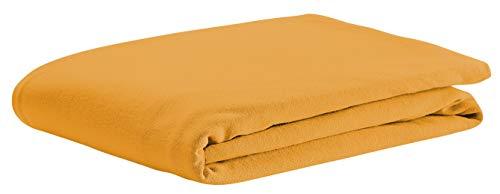 Odenwälder Jersey-Spannbetttuch 70 x 140, Design:orange