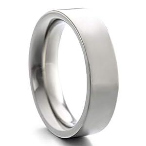 Heideman Ring Damen und Herren Paari aus Edelstahl Silber Farben poliert oder matt Damenring für Frauen und Männer Partnerringe 6mm breit schmaler Ring hr7010_P