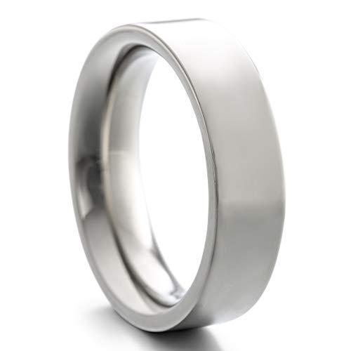 Heideman Ring Damen und Herren Paari aus Edelstahl Silber Farben poliert oder matt Damenring für Frauen und Männer Partnerringe 6mm breit schmaler Ring silberfarben poliert Gr.60 hr7010-3-60