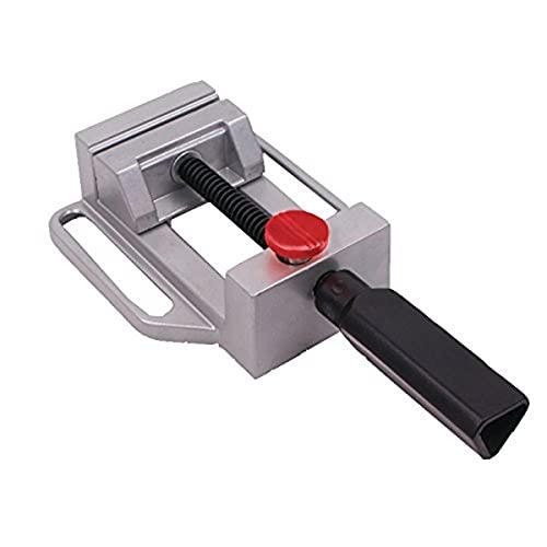 Connex COM870060, Morsa per Trapano a Colonna con Funzione di Serraggio Rapido, 70 mm, Alluminio