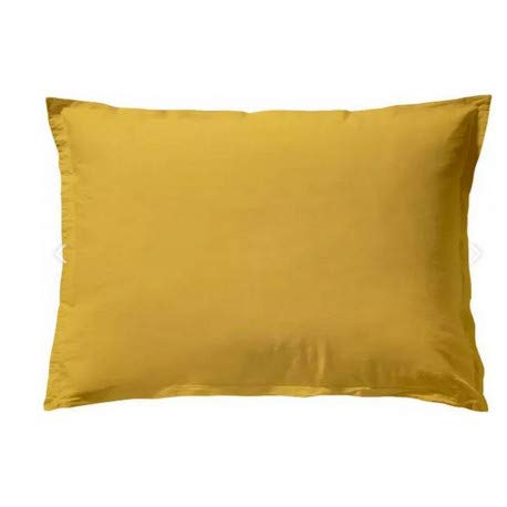 Essix Soft Line Taie d'oreiller, Coton, Jaune Curry, 50 x 70 cm