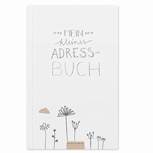 Adressbuch & Geburtstagskalender, kleines handliches Notizbuch, mit Register zum Ausschneiden, Softcover, liniert, 11,5x18 cm, 120 g Recyclingpapier, CO2 neutral