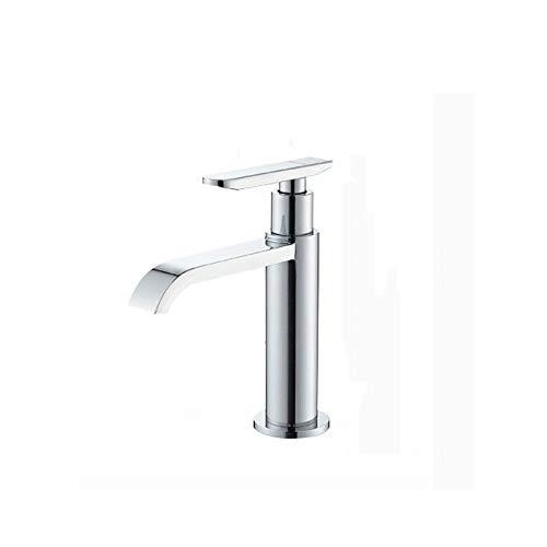 FNCUR Kupfer Wasserhahn Einzigen Kalten Hahn Küche Bad Universal Wasserhahn Waschtischmischer Einlochmontage...