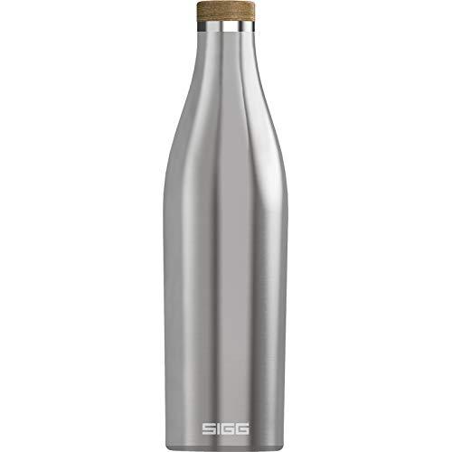 SIGG Meridian Brushed Trinkflasche (0.7 L), schadstofffreie und auslaufsichere Trinkflasche aus Edelstahl, Isolierflasche für kalte und heiße Getränke