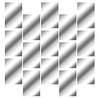 YARNOW 自己粘着ミラーシートリムーバブルアクリルミラー設定ウォールステッカーデカール壁付箋ミラーのバスルームシルバー15個