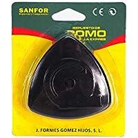 Sanfor Pomo olla adaptable a magefesa tradicional con tornillo    Negro   Blister pomo Triangular Convencional para ollas de presion   8 x 8 x 2,5 cm