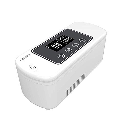 Dison Care Mini refrigerador,insulina portátil caso del recorrido Caja del refrigerador,la diabetes mini refrigerador,pantalla LCD de carga 2-8 ° C