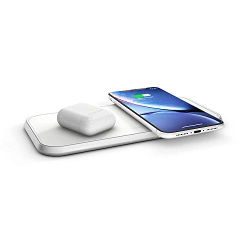 ZENS Wireless QI DOPPEL 10W Aluminium Weiss